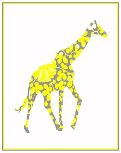 My family paints stepping stones and my mother loves giraffes, I think I'll have to make this for her :)