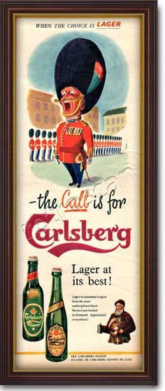 1955 Carlsberg Lager - Guardsman (Click picture for more details)