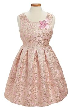 Free shipping and returns on Iris & Ivy Brocade Dress (Big Girls) at Nordstrom.com. A regal, tailored bodice adorned with a sparkling bow fans out into a box-pleated skirt on a gilded pink brocade party dress fit for a queen.