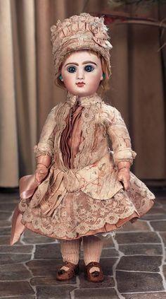 Bebe Jumeau in beautiful antique costume.