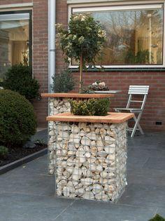 Gabion Weld Mesh planter tables!