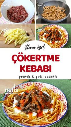 Cokertme Kebab Recipe - Delicious Recipes- How is Çökertme Kebab Recipe made? Illustrated explanation of Çökertme Kebab Recipe in the book of people and photographs of those who try it are here. Kebab Recipes, Lunch Recipes, Appetizer Recipes, Cooking Recipes, Turkish Recipes, Ethnic Recipes, Healthy Snacks, Healthy Recipes, Delicious Recipes