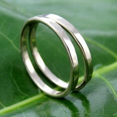 White Gold Stacking Bands. These are beautiful. I wear two sterling bands, might be time to upgrade. :)