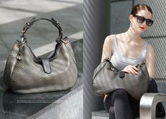 Leather crocodile effect handbag by Bata- done vegan