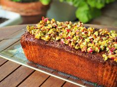 pistachio and lemon loaf cake by Madame Gâteaux Lemon Loaf Cake, Pistachio, Allrecipes, Baked Potato, Banana Bread, Baking, Ethnic Recipes, Desserts, Food