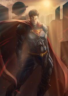 Guardian of Metropolis by pialoenna on DeviantArt Man Of Steel, Viera, Superman, Don't Forget, Dc Comics, Geek Stuff, Deviantart, Free Shipping, Fictional Characters
