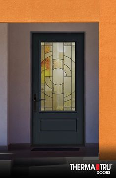 Therma Tru Clic Craft Canvas Collection Fibergl Door Painted Gale Force With Zaha Decorative