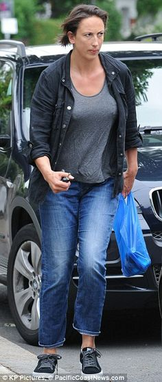 (From June Slimmed-down figure: Miranda Hart appeared to have shed a few pounds as she stepped out to run errands in central London on Monday morning Miranda Hart, Call The Midwife, How To Slim Down, Actresses, Running, Monday Morning, Celebrities, June, Action