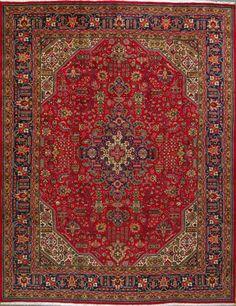 "Tabriz Persian Rug, Buy Handmade Tabriz Persian Rug 8' 6"" x 11' 2"", Authentic Persian Rug"