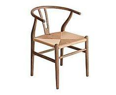 Silla en madera de roble y enea – marrón
