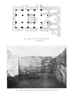 Hirite church plan with a photo from the 1931 Oxford excavations.
