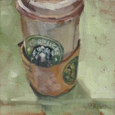latte love. I like everything about this! From the real to the brush strokes and color. Awesome!