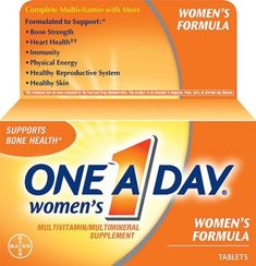 One A Day Women's Formula Vitamin Tablets provide much needed nutrients and vitamins to support a healthier way of living. It's formulated to concentrate on the leading health concerns directly relate to woman. 60 tablets per bottle. One A Day Vitamins, Good Vitamins For Women, Vitamins For Energy, Vegan Vitamins, Multivitamin Supplements, Best Multivitamin, Protein Supplements, Nutritional Supplements, Food Recipes