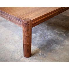 Custom Walnut coffee table in solid American Walnut. Perth bound! Corner detail. #australiandesign #custommade #furnituremakers #margaretriver #australianmade
