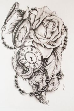 Feathers and Pocket Watch by di-polar