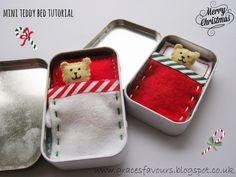 How To Make a Mini Teddy Bed - Free Tutorial