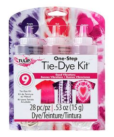 Tulip® One-Step Tie-Dye Kit® Good Vibrations Craft Supplies Online, Arts And Crafts Supplies, Tie Dye Supplies, Tie Dye Kit, One Step, Tie Dye Designs, Best Vibrators, How To Dye Fabric, First Step
