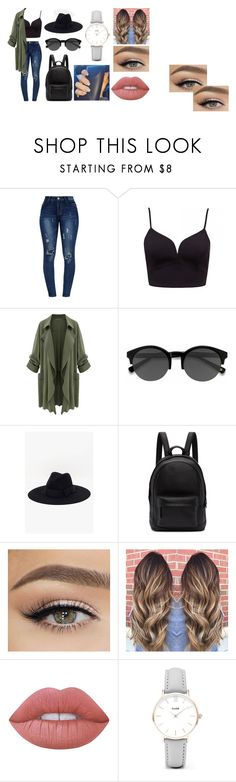 """Summer end"" by liligrierreakendunbarstilinski on Polyvore featuring mode, EyeBuyDirect.com, 7 For All Mankind, PB 0110, Lime Crime et CLUSE"