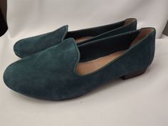 Adam Tucker Me Too Women's Teal Blue Suede Leather Flat Loafers Size 8M #AdamTucker #Loafer