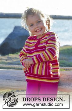 """DROPS Baby - Jumper or jacket with stripes in """"Baby Merino"""". - Free pattern by DROPS Design Baby Knitting Patterns, Knitting For Kids, Free Knitting, Drops Design, Bb Reborn, Drops Baby, Magazine Drops, Lion Brand Yarn, Layette"""