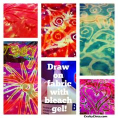 HOW TO: Bleach Gel Doodles on Fabric! | CraftyChica.com | Official site of award-winnning artist and novelist, Kathy Cano-Murillo.