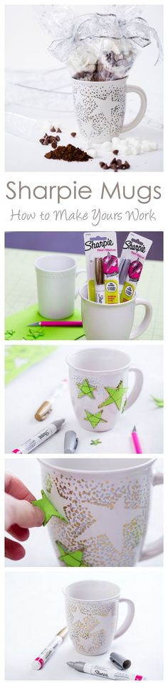 Mugs and Homemade Hot Chocolate Mix Sharpie Mugs That Work! (And a Homemade Hot Chocolate Mix) -- Sharpie Mug with Oil Based SharpiesSharpie Mugs That Work! (And a Homemade Hot Chocolate Mix) -- Sharpie Mug with Oil Based Sharpies Sharpie Projects, Sharpie Crafts, Sharpie Mugs, Craft Projects, Sharpie Mug Designs, Sharpie Glass, Sharpie Paint, Paint Pens, Paint Markers