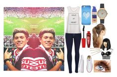 """""""At a NRL game with my best friend (Niall Horan)"""" by harrystyles13wife ❤ liked on Polyvore featuring rag & bone, CO, Maybelline, Rimmel, France Luxe, Olivia Burton, Nicki Minaj and ban.do"""