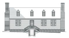 Ferry Farm breaks ground on 'interpretive replica' An architect's rendering shows the front, or Rappahannock River side, of the Washington family house in southern Stafford County, as experts deduced from available evidence.