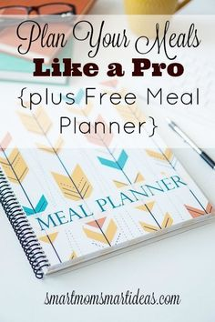 "Always know the answer to this important question, ""Mom, what's for dinner?"" Start planning your meals with the FREE Smart Mom Meal Planner."
