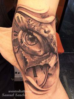ojo lagrima reloj tattoo brasil