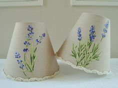 A lovely French lavender candle lampshade 11 x 13 cm / 4.3 x