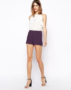 Enlarge ASOS Shorts With Scallop Hem