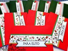 Sobres navideños para regalar dinero o tarjeta de regalo. Christmas envelope for money or gift card, handmade.