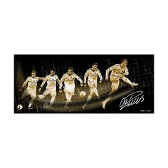 Steiner Sports Real Madrid Cristiano Ronaldo Shot Progression 16.5'' x 39'' Signed Photo, Multicolor