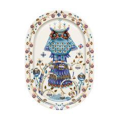 Taika Platter White Iittala  porcelain plate Finnish owl