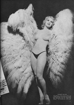 Faith Bacon with fans - The FIRST large ostrich fan dancer, who inspired Sally Rand