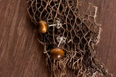 Tiger Eye 8mm Earring  by Chase Gilbert @ cgilly.com