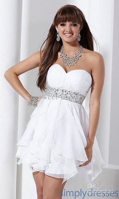 6th Grade Graduation Dresses Strapless | strapless lace satin ...