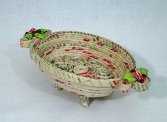Decorative Paper Bowl With Legs by EloaJaneArtDesign on Etsy, $28.00