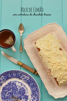 Bocadinhos de Açúcar: Bolo de Limão com cobertura de Chocolate branco