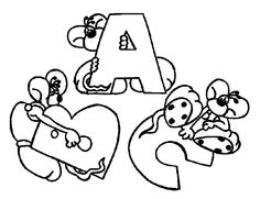 Diddle Alphabet With Letters ABC