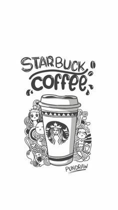 how to draw starbucks step by step