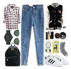 """""""i wish i can make it easy"""" by designedbyalex ❤ liked on Polyvore featuring moda, adidas, Moschino, Dsquared2, Ray-Ban, Tommy Hilfiger, Happy Socks, LEFF Amsterdam y Chanel"""