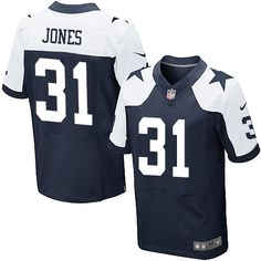 Nike Elite Byron Jones Navy Blue Men's Jersey - Dallas Cowboys #31 NFL Throwback Alternate