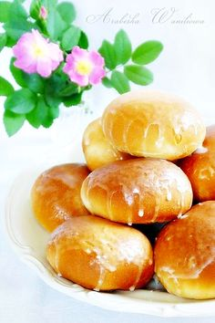 Arabeska : Słodkie bułeczki i rogaliki Scones, Nutella, Hamburger, Recipies, Rolls, Coconut, Sweets, Bread, Buns