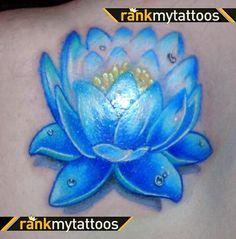 lotus tattoos   Egyptian Blue Lotus-Tattoo Lotus flower