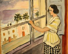 Henri Matisse 1869-1964 Young Woman at the Window, Sunset, 1921 at Baltimore Art Museum Maryland
