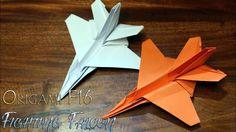 Cara membuat origami F16 jet fighter Fighting Falcon