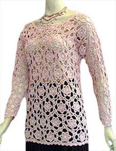 Super Cute Pink Crochet Top Online