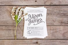 Vintage Wedding Invitations - The beauty of vintage wedding theme must be reflected on the vintage wedding invitations too. Retro Wedding Invitations, Wedding Invitation Design, Wedding Stationery, Invites, Platinum Wedding, Vintage Lettering, Wedding Tips, Wedding Designs, In This World
